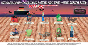 McDonald's: FREE Hotel Transylvania 3 toy with every Happy Meal from 12 Jul – 15 Aug 2018