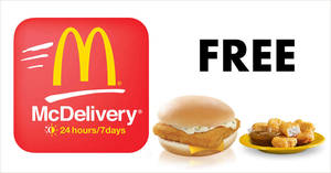 McDonald's McDelivery: Get free Filet-O-Fish or 6pc McNuggets with these coupon codes valid till 31 Jul 2018