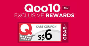 Qoo10: Grab free $6 cart coupons (min spend $40)! Valid on 18 Jul 2018
