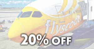 Scoot is offering 20% off economy fares to 68 destinations with DBS/POSB cards till 22 Sept 2019