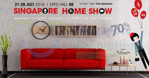 Singapore Home Show furnishing fair at Singapore Expo from 21 – 29 Jul 2018