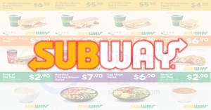 Subway has released NEW e-coupons to let you enjoy more savings! Valid till 14 Aug 2018