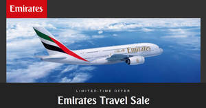 Emirates Travel Sale is ON! Travel to over 150 destinations starting from $588 all-in return. Book by 27 Aug 2018