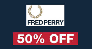 Fred Perry 50% OFF sale at Takashimaya from 16 – 20 Aug 2018