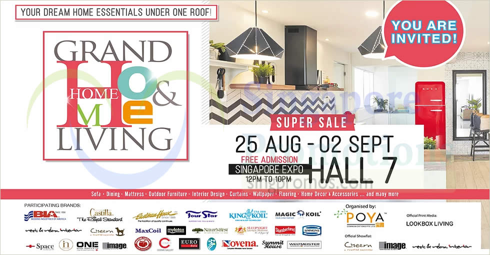Grand Home Living Furnishing Fair At Singapore Expo From 25 Aug