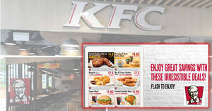 KFC releases new dine-in/takeaway discount e-coupons valid till 11 Sep 2018