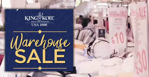Featured image for King Koil's up to 90% off annual warehouse sale returns from 31 Aug – 3 Sep 2018