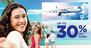 Malaysia Airlines up to 30% off Travelicious Deals fares promotion – book by 27 Aug 2018