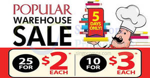 Popular warehouse sale – books from $2 each! Happening from 22 – 26 Aug 2018
