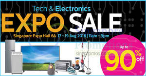 Tech & Electronics Expo Sale by Megatex at Singapore Expo from 17 – 19 Aug 2018