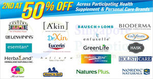 Featured image for Unity: Get the 2nd at 50% off on participating health supplement and personal care brands till 12 Sep 2018
