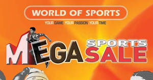 Featured image for World of Sports up to 90% off Mega Sports Sale at Millenia Walk till 4 Sep 2018