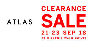 Atlas premium home theatre products clearance sale from 21 – 23 Sep 2018