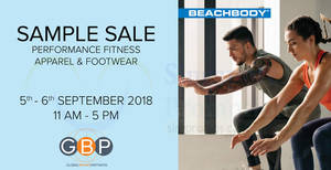Featured image for Beachbody Apparel & Footwear Sample Sale from 5 – 6 Sep 2018