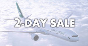 Cathay Pacific two-days only sale! Fares fr $228 all-in return to over 30 destinations when you book by 19 Sep 2018