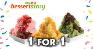 Dessert Story: 1 for 1 snow ice promotion at all outlets till 21 Sep 2018