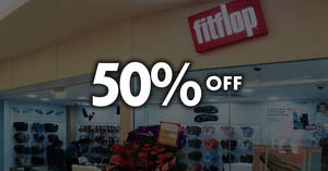 e9371b5fd FitFlop  Save 50% off regular-priced items at 4 outlets with UOB cards!  Valid till 16 Sep 2018