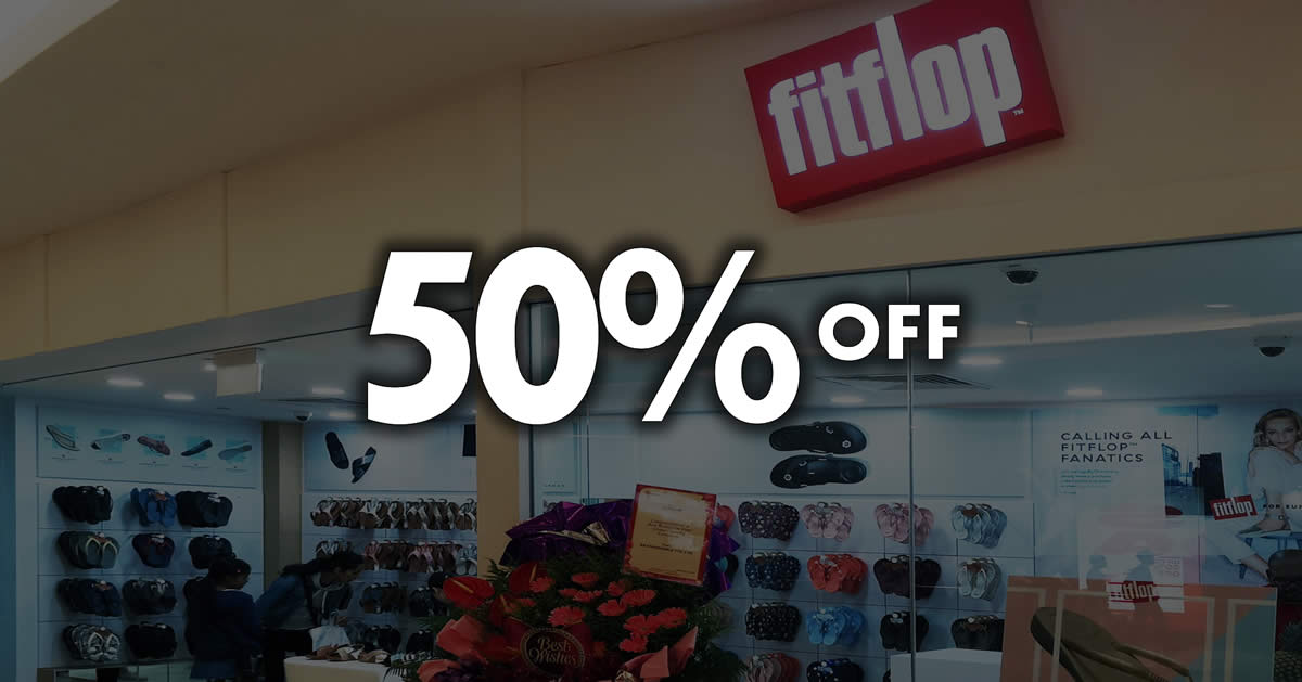 b74c0e1dc01d FitFlop  Save 50% off regular-priced items at 4 outlets with UOB cards!  Valid till 16 Sep 2018