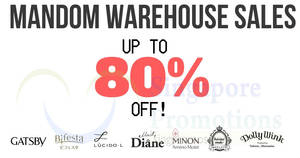 Mandom up to 80% off warehouse sale from 25 – 26 Sep 2018