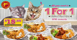 Manhattan FISH MARKET offers 1-for-1 on selected items from 17 Sep 2018