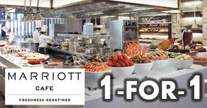 Marriott Cafe: 1-for-1 Dinner Buffet & High Tea Buffet with OCBC cards till 31 Oct 2018