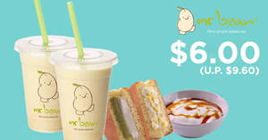 Featured image for Mr Bean: $6 flash deal (U.P. $9.60) for five days only at all outlets till 30 Sep 2018