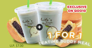 """Featured image for Mr Bean: 1-for-1 """"Chocolate Pancake + Black Soya Milk (16oz)"""" deal from 28 Sep 2018"""