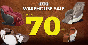 OTO up to 70% off massage chairs warehouse sale from 22 – 23 Sep 2018