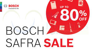 Bosch up to 80% off home appliances sale from 22 – 23 Sep 2018