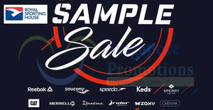 Royal Sporting House: Reebok, Speedo, Keds, Merrell and more sample sale from 26 – 28 Sep 2018