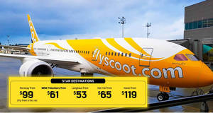 Scoot: Latest 5-day sale offers fares fr $52 all-in to over 20 destinations! Book by 23 Sep 2018