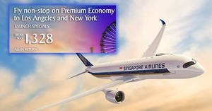 Singapore Airlines: Fly to Los Angeles & New York in Premium Economy fr $1328 all-in return! Book by 19 Sep 2018