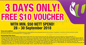 Featured image for Unity: Free $10 voucher with min $50 nett spend till 30 Sep 2018