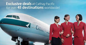 Cathay Pacific: Fares fr $228 all-in return to over 50 destinations with OCBC cards! Book by 26 Oct 2018