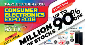 Consumer Electronics Expo at Singapore Expo from 19 – 21 Oct 2018