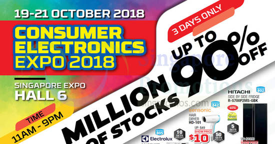 Featured image for Consumer Electronics Expo at Singapore Expo from 19 - 21 Oct 2018