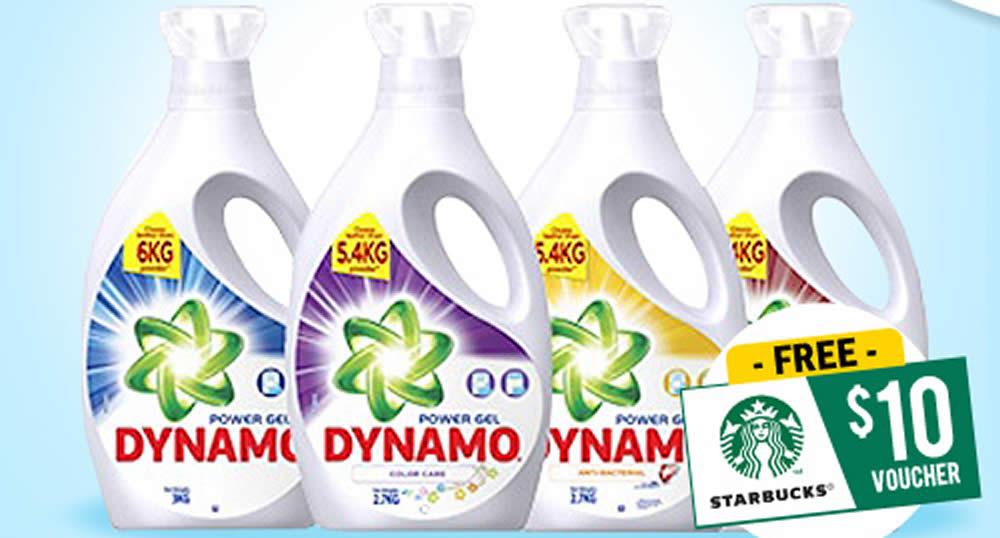 Dynamo: Buy four 2 7kg/3kg bottles of detergent at $36 and