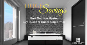Hennsley Mattress Huge Oct Savings! Free Upsize, Free $500 Off, Free Bedframe, Further 5% Off