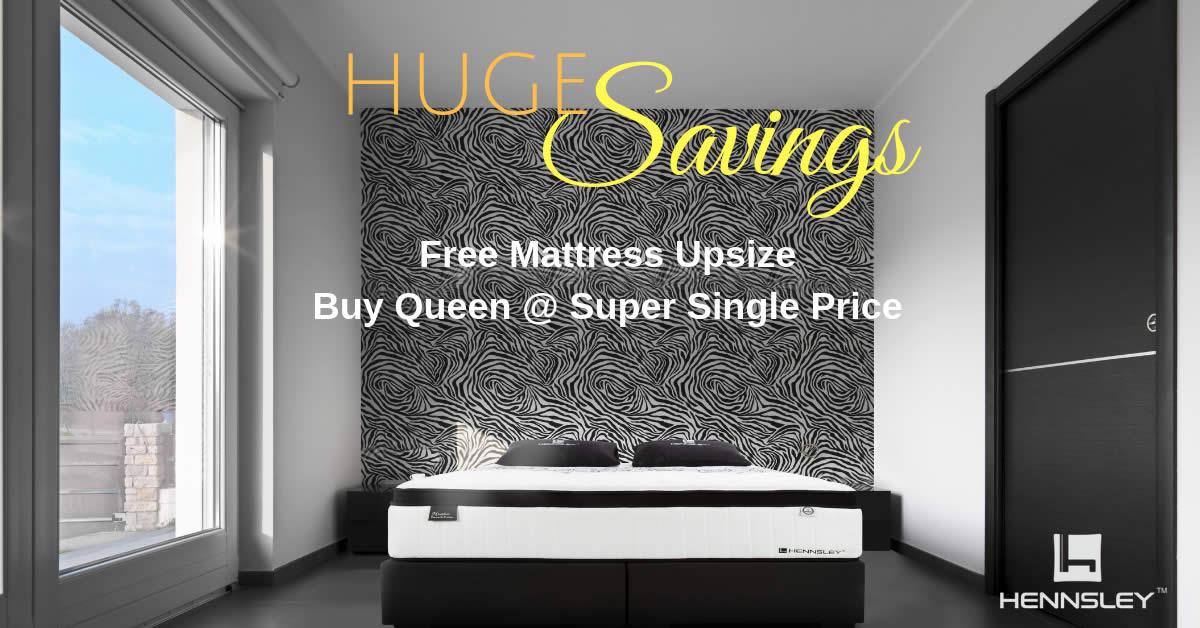Hennsley Mattress Huge Oct Savings Free Upsize Free 500