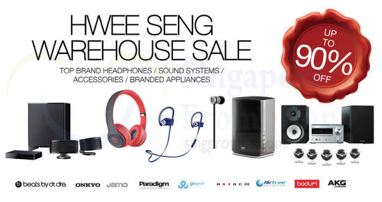 Featured image for Hwee Seng: Up to 90% off audio and appliances warehouse sale is back! From 26 - 28 Oct 2018