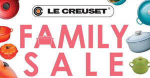 Le Creuset up to 80% off Family Sale from 26 – 28 Oct 2018
