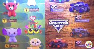 McDonald's: Get a free TY Teenie Beanie Boo's or Monster Jam toy with every Happy Meal from 18 Oct – 14 Nov 2018