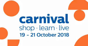 Philips Carnival with up to 60% off deals to run from 19 – 21 Oct 2018