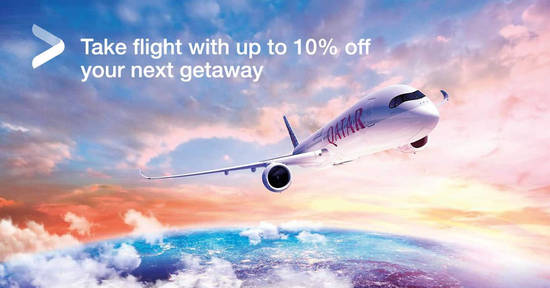 Featured image for Qatar Airways: Enjoy 12% off selected regular fares and 10% off promotional fares with UOB cards till 30 April 2020