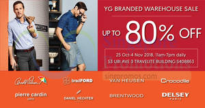 YG Marketing up to 80% OFF warehouse sale – price start from $5! From 25 Oct – 4 Nov 2018