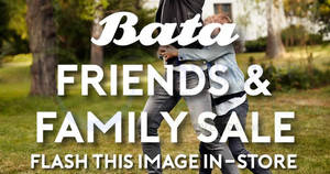 Featured image for Bata 30% off friends & family sale from 30 Nov – 2 Dec 2018