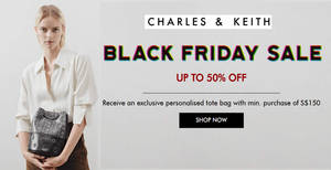 Charles & Keith up to 70% OFF Black Friday sale till 23 Nov 2018