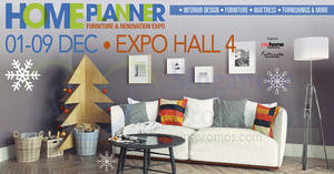 Featured image for Home Planner Furniture & Renovation Fair at Singapore Expo from 1 – 9 Dec 2018