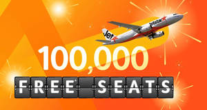 Jetstar: 100,000 FREE seats promotion is now ON! Available until fare is sold out or till 30 November 2018