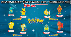 McDonald's: Get a free Pokemon toy with every Happy Meal until 12 December 2018